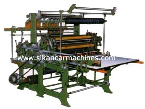 Exercise Note Book Disc Ruling Machine for making students exercise note books of every kind manufactured by Sikandar Machines